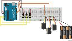Picture of Controlling 3 servo motors with 3 potentiometers and an Arduino
