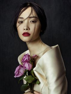 Kwak Ji Young by Zhang Jingna in Flowers in December for Fashion Gone Rogue