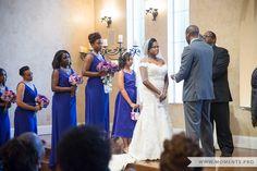 Northeaset Wedding Chapel, Wedding Photography, Indoor Ceremony, Purple Wedding
