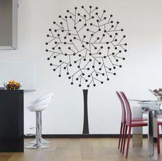 Wandaufkleber: Gepunktete Baum (3340n) von ARTschablone auf DaWanda.com