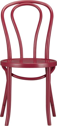 Vienna Beet Side Chair. Was thinking of something like this. They have a few fun colors or we could have it painted any color we like. What do you think of lines?