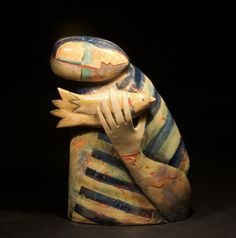 """""""Hold That Thought"""" by Julie Hawthorne Aboriginal Painting, Ceramic Design, Big Sur, Contemporary Art, Hold On, Sculpture, Ceramics, Fine Art, Gallery"""