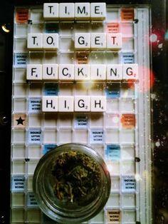 """time to get fucking high"" weed Cool Bongs, Puff And Pass, Herb Pots, Smoking Weed, Ganja, Bud, Cannabis, Drugs, Herbalism"