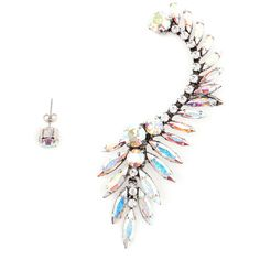 Ryan Storer Swarovski Crystal Ear Cuff ($465) ❤ liked on Polyvore featuring jewelry, earrings, accessories, ear cuff earrings, ryan storer ear cuff, earring ear cuff, earring jewelry and swarovski crystal earrings