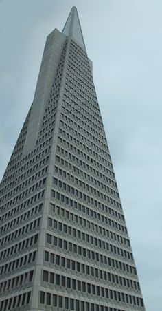 The iconic Transamerica pyramid. Foggy day in July, 2012