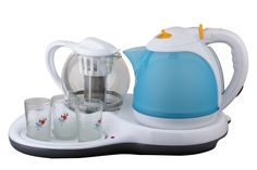electric kettle with teapot set,CB CE certificate