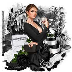 Carmen designs: Noir girl""