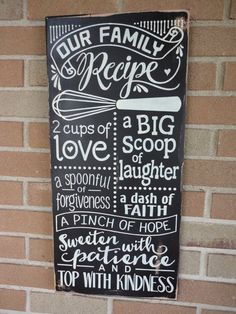 cool awesome Kitchen Decor/Family Sign/Our Family Recipe/Kitchen Sign/Home Decor/Kitc... by http://www.best100-home-decor-pics.club/home-decor-accessories/awesome-kitchen-decorfamily-signour-family-recipekitchen-signhome-decorkitc/