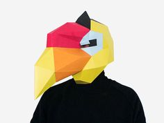 Bird Mask Hornbill Mask Paper Mask Animal Mask DIY