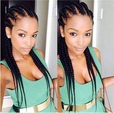 Ayanda Ncube, South African beauty #braids #cornrows #hair