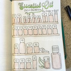 Keep track of Essential Oil purchases in your Bullet Journal! By @hippieishmama on Instangram