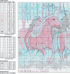 Horses in Snow - 2/3 Solo Patrones Punto Cruz | Aprender manualidades es facilisimo.com