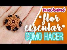 Anillo flor circular ♥︎ macramé   Como hacer   How to