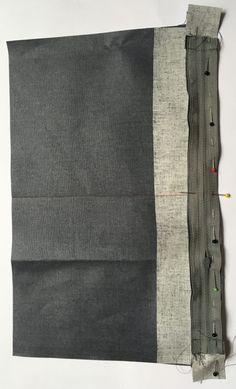 Grand sac fourre-tout décontracté en tissu velours. - Octavie à Paris Girl Dress Patterns, Skirt Patterns, Blouse Patterns, Maxi Dress Tutorials, Coin Couture, Fleece Hats, Pattern Drafting, Paris, Pillowcase Dresses