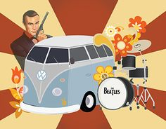 """Check out new work on my @Behance portfolio: """"1960's"""" http://be.net/gallery/38136665/1960s"""