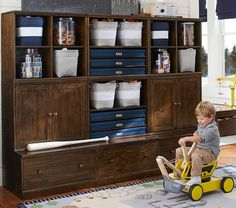 Cameron Creativity Storage System with Drawer Bases | Pottery Barn Kids