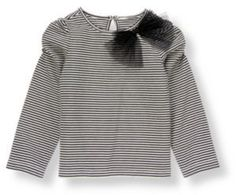 Tulle Bow Stripe Top