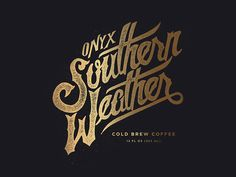 Working on some type Onyx Coffee Labs for their new Cold Brew Coffee can  - Jeremy Teff