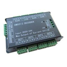 LED Controller DIN-808 8-Kanal DMX / PWM 8x3A Hutschiene → EVEREN ...