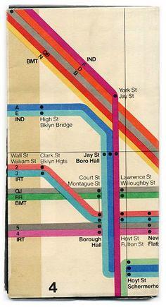 1972 NY subway map designed by Massimo Vignelli