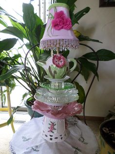 Simply Beautiful Teapot Table Lamp A Lady Lamp at by DAUSnGLO