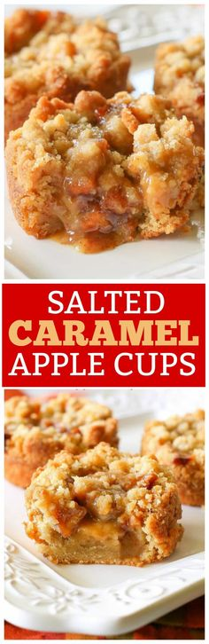 Salted Caramel Apple Cups - so good and the perfect fall dessert. the-girl-who-ate-everything.com