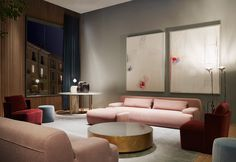 Belt - Low tables - Meridiani Srl - pink sofa - living room