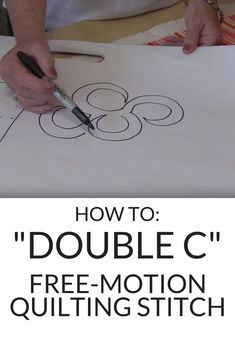 """She Draws A """"C"""" And Gets This Beautiful Free Motion Quilting Design!"""