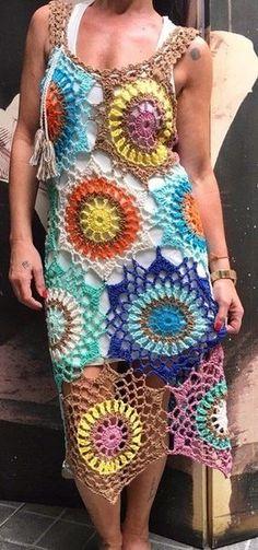 Fabulous Crochet a Little Black Crochet Dress Ideas. Georgeous Crochet a Little Black Crochet Dress Ideas. Crochet Blouse, Crochet Poncho, Crochet Lace, Simple Crochet, Crochet Summer Dresses, Summer Dress Patterns, Mode Crochet, Diy Kleidung, Crochet Woman