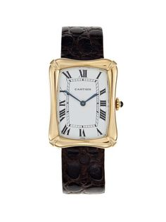 Cartier 18k Yellow Gold Bamboo Watch by Vintage Watches on Gilt.com
