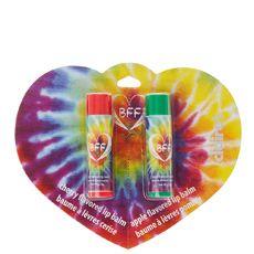 Pack of 2 Best Friend Rainbow Tye Dye Lip Blams