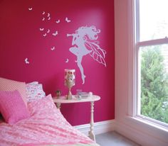 fairy room themes   Fairy Butterfly Wall Art Decal/Sticker Room Decor by decaldivas