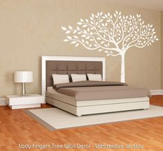 Lady Fingers Tree Wall Decal - 6, 7 & 8 FT - Original Artwork via Etsy.