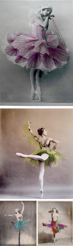 Embroidered ballerina's