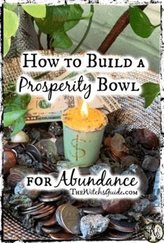 In our latest article, we're sharing the steps of how to make a prosperity bowl for abundance. This simple and easy spell is a great way to attract more wealth. Magick Spells, Witchcraft, Luck Spells, Money Spells That Work, Spells That Really Work, Wiccan Spell Book, Spell Books, Prosperity Spell, Easy Spells