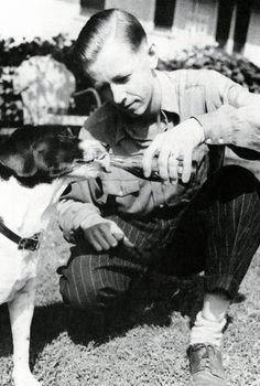 Charles Schulz and Spike!