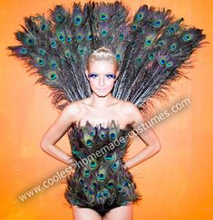 Halloween 2011 Coolest Homemade Costume Contest Runner-Up.  Peacock costume submitted by Linda from Los Angeles, CA...
