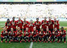 Medal - Canada - Football - Canada - Women - Women's Bronze Medal Match - Rio Olympic Arena
