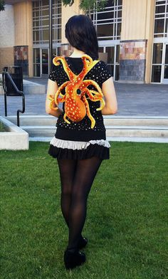 An Adorable Plush Octopus Backpack