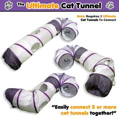Ultimate Cat Tunnel - Innovative Collapsible Crinkle Crackle Chute Fun Run Toy! Fits ALL Cats! They'll LOVE it Guaranteed! Cat Laser Toy, Cat Tunnel, Velcro Straps, Crinkles, Cat Toys, Pet Supplies, Kitty, Running, Pets