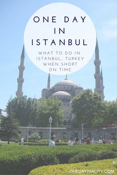A travel guide on how to spend one day in Istanbul, Turkey with tips on what to see, do, and eat.