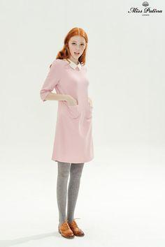 Wallflower Dress (Pink) - Miss Patina - Vintage Inspired Fashion