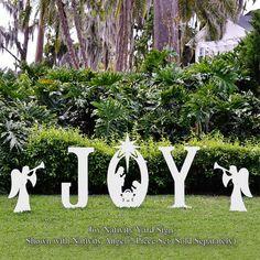 Joy Nativity Yard Sign | Christmas Yard Art