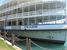 SS Ste. Claire docked in Detroit, Michigan (Boblo Boat)