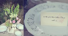 SET OF 25 Vintage Birdcage Place Cards - Tented Style custom colors available