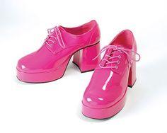 Vinyl pink lace up shoes Disco Shoes, 70s Shoes, Shiny Shoes, Men's Shoes, Disco Fashion, Fashion Shoes, Lace Up Shoes, Dress Shoes, Pink And Blue Rug