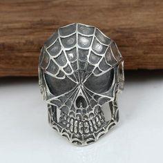 Men's Sterling Silver Spiderman Ring