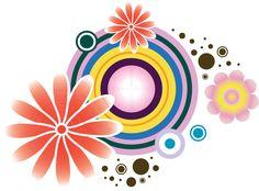 花のフルカラーイラスト-ポップイラスト3