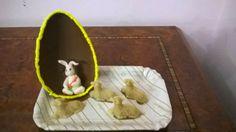 Dolcilandia e non solo...: Composizioni pasquali : mezze uova con coniglietto...