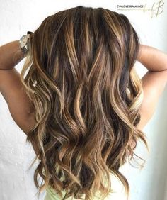 Long Brown Hair With Caramel Highlights
